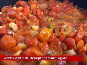 Tomaten Spargel Paprika Pfanne Low Carb